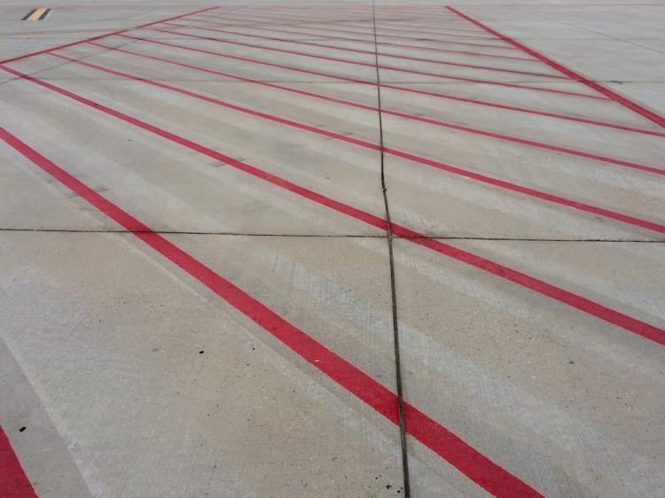 Le tarmac du tout petit aéroport de Saragosse
